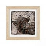 Highland Coo Cow - Wall Art Print Framed - Charlotte Oakley