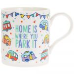 Caravan Home Is Where You Park It Fine China Novelty Mug Set of 2 - Boxed