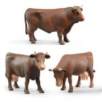 Farm Bull & Cow Set - Set of 3 - Scale - 1:16 - Bruder 02308 02309