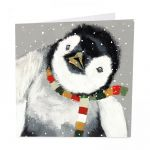 Charity Christmas Card Pack - 6 Cards - Penguin - Winter Warmer - Glitter Shelter