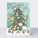 Advent Calendar Card - Joy To The World Xmas Tree - Rachel Ellen