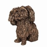 Sprout Shih Tzu Dog Cold Cast Bronze Ornament - Frith Sculpture