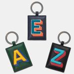 Leather Keyring Initial Alphabet A-Z - 26 Letters - Yoshi