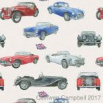 Vintage Car Wrapping Paper 2 Sheets & 2 Tags - Arty Penguin