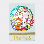 Woodland Animals Fox Flip Notebook - Rachel Ellen