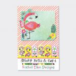 Flamingo Design Sticky Note & Tabs Set - Rachel Ellen