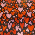Heart Valentines Day Black Lovers Gift Wrap Sheet - 2 sheets