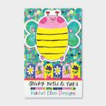 Bee Flowers Design Sticky Note & Tabs Set - Rachel Ellen