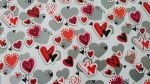 Heart Valentines Day Lovers Gift Wrap Sheet - 2 sheets