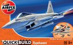 Eurofighter Typhoon Aeroplane - Model Kit - 27 Pieces Airfix Quickbuild - J6002