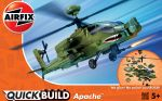 Apache Helicopter - Model Kit - 37 Pieces - Airfix Quickbuild - J6004