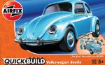 VW Beetle Car - Blue - Model Kit - 36 Pieces - Airfix Quickbuild - J6015