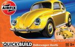 VW Beetle Car - Yellow - Model Kit - 36 Pieces - Airfix Quickbuild - J6023
