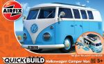 VW Camper Van - Blue - Model Kit - 42 Pieces - Airfix Quickbuild - J6024