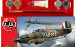Hawker Hurricane MkI Aeroplane - Scale 1:72 Model Kit Small Starter Set - Airfix - A55111
