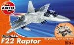 F-22 Raptor Aeroplane - Model Kit - 24 Pieces Airfix Quickbuild - J6005