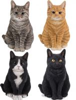 Cat Sitting - Lifelike Garden Ornament - Indoor or Outdoor - Real Life - 4 Colours