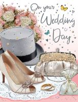 Wedding Day Card - Bowler Hat & Wedding Shoes