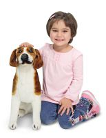 Lifelike Lifesize Beagle Dog Plush Soft Toy