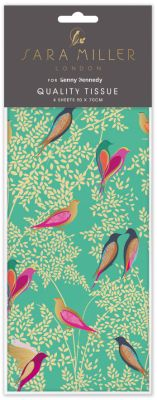 Birds Green Luxury Tissue Paper - Sara Miller