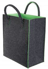 Felt Shopping Bag Large Green & Grey Reuseable