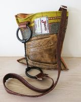 Twisted Wire Snaffle Bit Tweed & Leather Handbag - Joey D