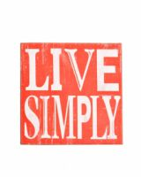 Live Simply Red Canvas Slogan Picture