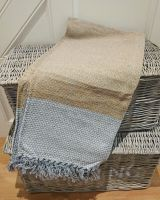Gold with Grey Panels Eco Throw 100% Cotton