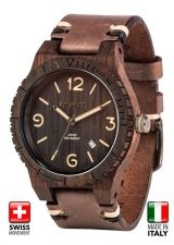Mens WeWood Alpha SW Choco Rough Wooden Watch