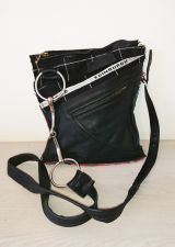 Snaffle Bit Black Tartan & Leather Handbag - Joey D