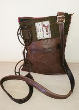 Cartwheel Bit Pink Brown Leather Handbag - Joey D