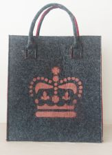 Felt Shopping Bag With Copper Queen's Crown
