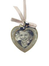 Wooden Heart Picture Frame - Valentine Decoration