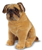 Lifelike Lifesize Pug Dog Plush Soft Toy Melissa & Doug