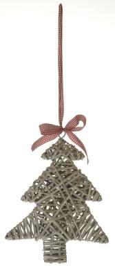 Large Grey Willow Christmas Tree Hanging Decoration