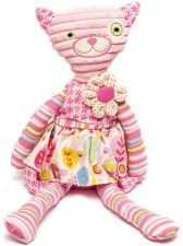 Kitten with Flower Dress Soft Toy - Kitty