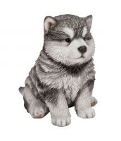 Malamute Puppy Dog - Lifelike Ornament Gift - Indoor or Outdoor - Pet Pals