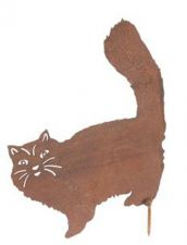 Cat - Rusty Revival Garden Fence Decoration