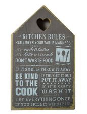 Kitchen Rules Brown Wall Plaque