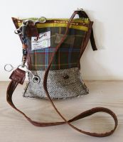 Tom Thumb Bit Tweed, Tartan & Leather Handbag - Joey D