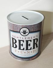 Gentlemen's Beer Fund Money Tin - Novelty