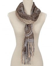 Ladies Reversible Grey Pashmina Scarf