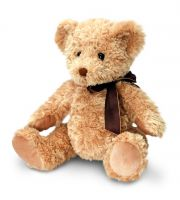 Sherwood Bear Brown Soft Toy with Brown Ribbon - Keel