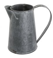 Chartwell Distressed Zinc Metal Jug - Garden Planter Table Centre