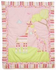Georgia Giraffe Baby Cot Bed Quilt
