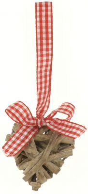 Heart Willow with Gingham Ribbon - Small