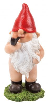 Gnaughty Gnome Naughty Rude Bottom Standing Ornament Gift - Indoor or Outdoor - Funny
