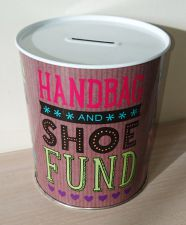 Handbag & Shoe Fund Money Tin - Novelty