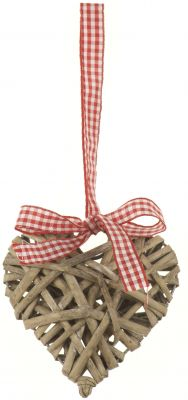 Heart Willow with Gingham Ribbon - Large