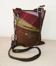 Wilkie Snaffle Bit Tweed & Suede Brown Handbag - Joey D